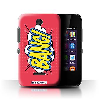 STUFF4 Case/Cover for Nokia Asha 230/Bang!/Comics/Cartoon Words