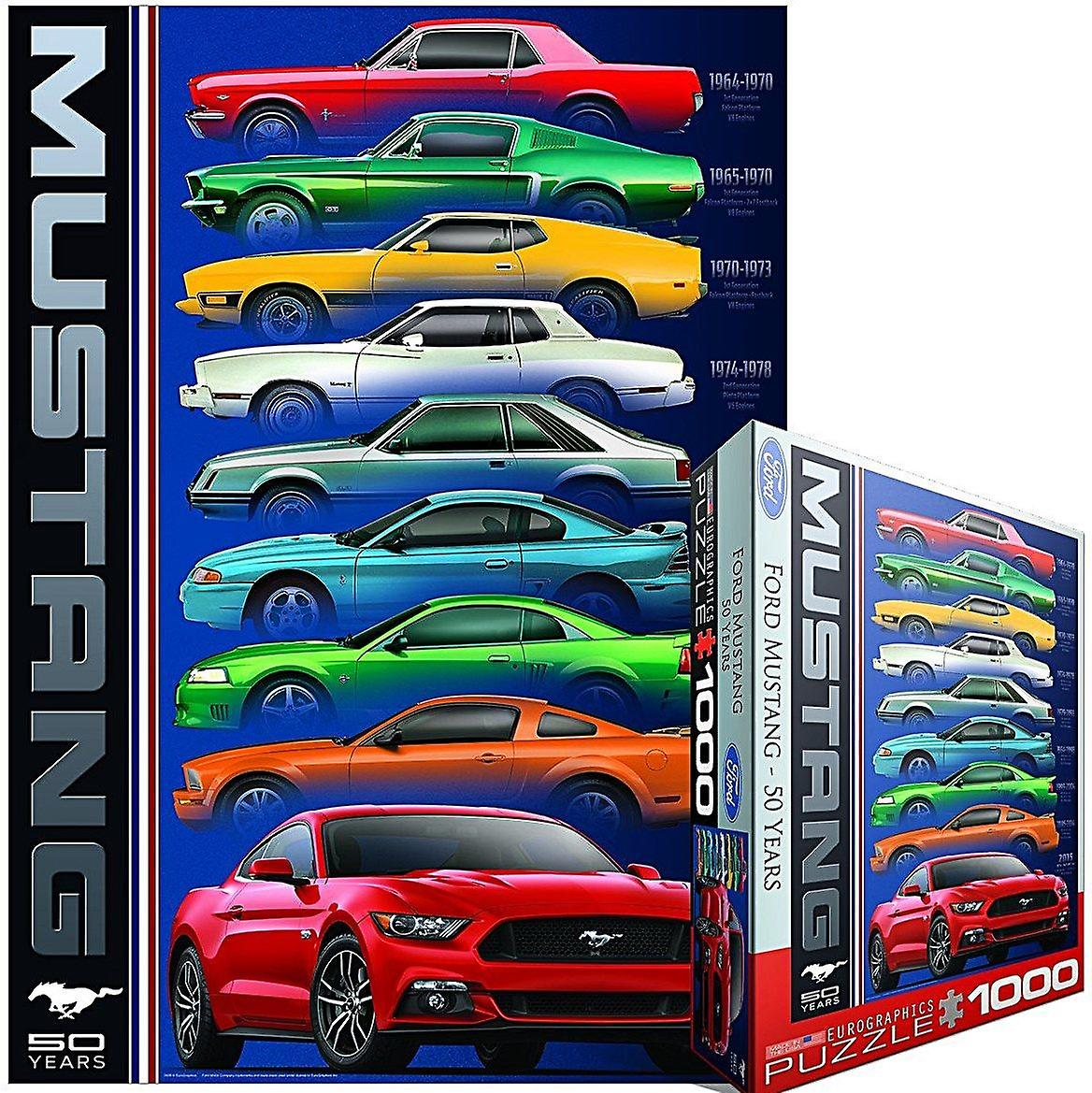 Ford Mustang 50 Years 9 Types 1000 piece jigsaw puzzle 680mm x490mm  (pz)
