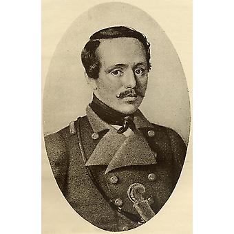 Mikhail Yuryevich Lermontov 1814-1841 Russian Poet And Novelist From The Book The Masterpiece Library Of Short Stories Russian Volume 12 PosterPrint