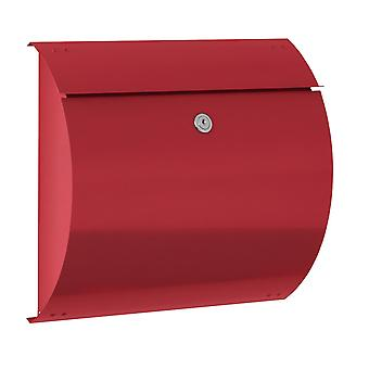 Max Knobloch letterbox Honolulu fire red (RAL 3000) 10 litre wall letter box