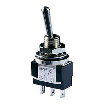 Toggle switch 250 Vac 3 A 1 x (On)/Off/(On) Knitter-Switch