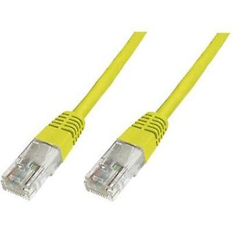 RJ49 Networks Cable CAT 6 S/FTP 0.25 m Yellow Flame-retardant, incl. detent Digitus Professional