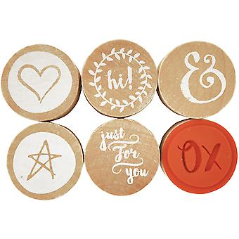 Lucky Dip rouge Rubber Stamps 1.25