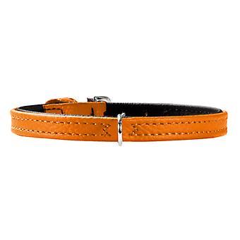 Hunter Tiny Petit 24 Leather Collar Orange 8mm X 16.5-20.5cm