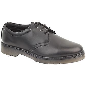 Amblers Womens Aldershot Gibsons Shoes Textile Leather PVC Lace Up Fastening