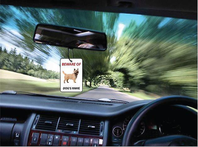 Personalised Cairn Terrier Dog Car Air Freshener