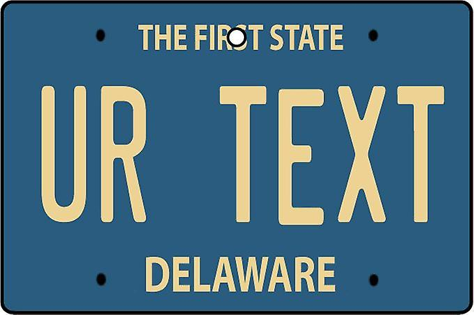 Personalised Delaware Numberplate Car Air Freshener