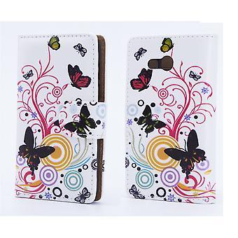 Designbuch für Alcatel Pixi 4 (5.5) - Farbe Schmetterling