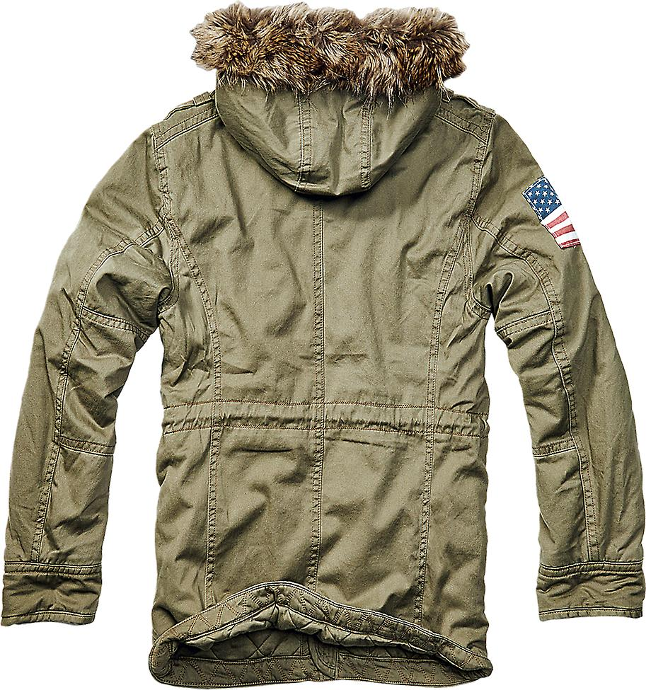 Brandit mens vintage parka Explorer stars and stripes