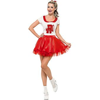 Sandy cheerleader costume with skirt and top size M