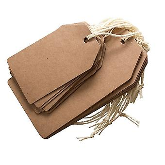 DoCrafts Brown Kraft Tags 2 Pack 2 Sizes