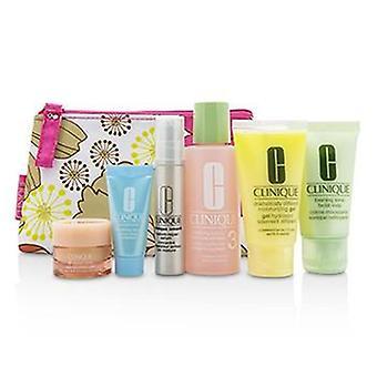 Clinique Travel Set: Facial Soap 30ml+Lotion 3 60ml+DDMG 30ml+Smart Serum 10ml+Turnaround Serum 7ml+All About Eyes 7ml+Bag - 6pcs+1bag