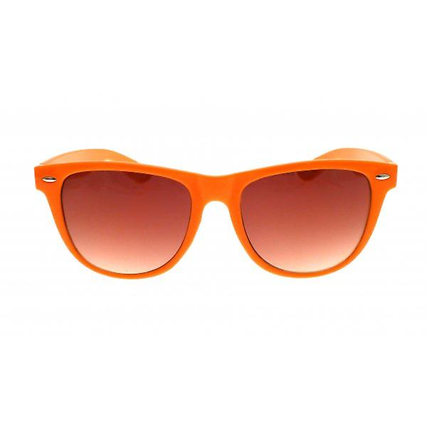 W.A.T Oversized Orange Neon Retro Wayfarer Style Sunglasses