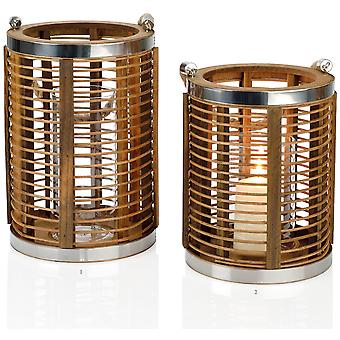 Andrea House Bamboo/Metal Rd Candle Holder 25Hcm (Home , Decoration , Candles)