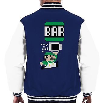 Baren Bro Luigi Super Mario menn Varsity jakke