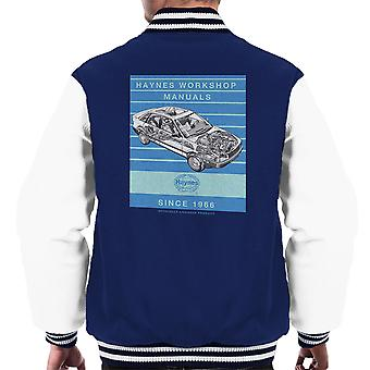 Haynes Workshop Manual 1491 Audi 80 90 Stripe mannen Varsity Jacket