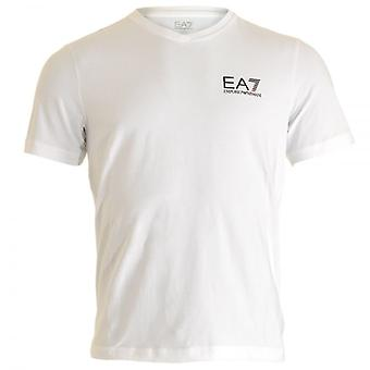 EA7 Emporio Armani Train Core ID Logo V-Neck T-Shirt, White, Small
