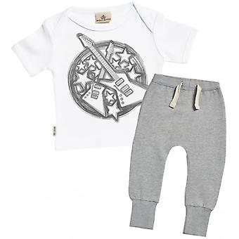 Spoilt Rotten Guitar Print Baby T-Shirt & Joggers Outfit Set