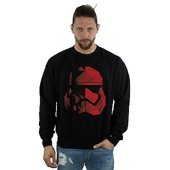Star Wars Men's The Last Jedi Stormtrooper Red Cubist Helmet Sweatshirt