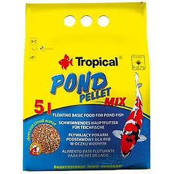 Tropical Pond Pellet Mix Bag of 5 L / 650g (Poissons , Nourriture , Eau froide)