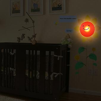 Moderne maison auto adhésif bricolage 3D veilleuse - soleil
