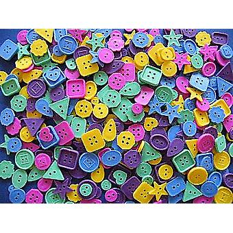Bumper 450g Bag of Plastic Threading Buttons | Sewing Scrapbooking Card Making