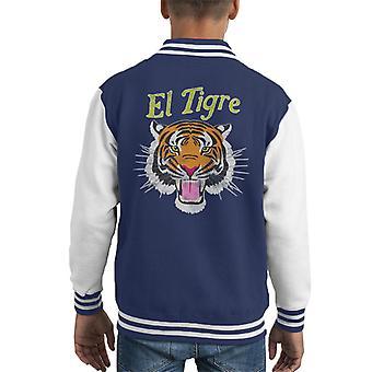 El Tigre Tiger Shirt Kid's Varsity Jacket
