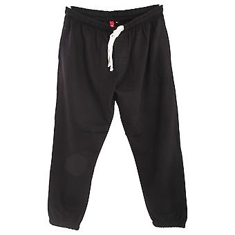 Redtag Sportswear Mens Elasticated Open Cuff Plus Size Jogging Bottoms