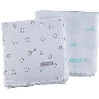 Sophie the Giraffe Set of 2 Swaddling Cloths