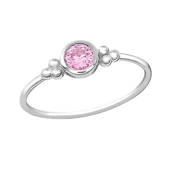 Round - 925 Sterling Silver Jewelled Rings - W22521X