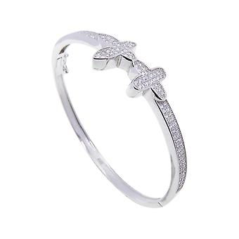 Silver cubic zirconia star bracelet