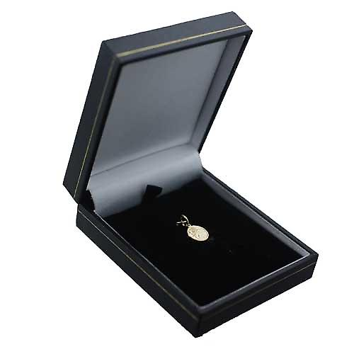 18ct Gold 10mm round St Christoper Pendant Only Suitable for Children