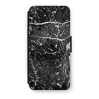 iPhone 5C Flip Case - marmo nero