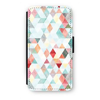 Samsung Galaxy A5 (2015) Flip Case - Coloured triangles pastel