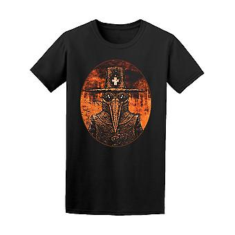 Plague Doctor On Fire Graphic Tee Men's -Image by Shutterstock
