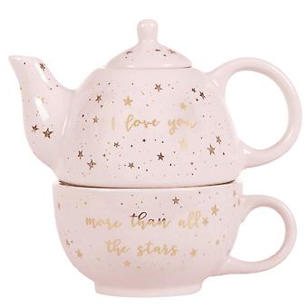 Sass & Belle Scattered Stars Love You More Teapot