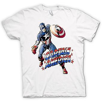 Mens T-shirt - Captain America - Comic Hero