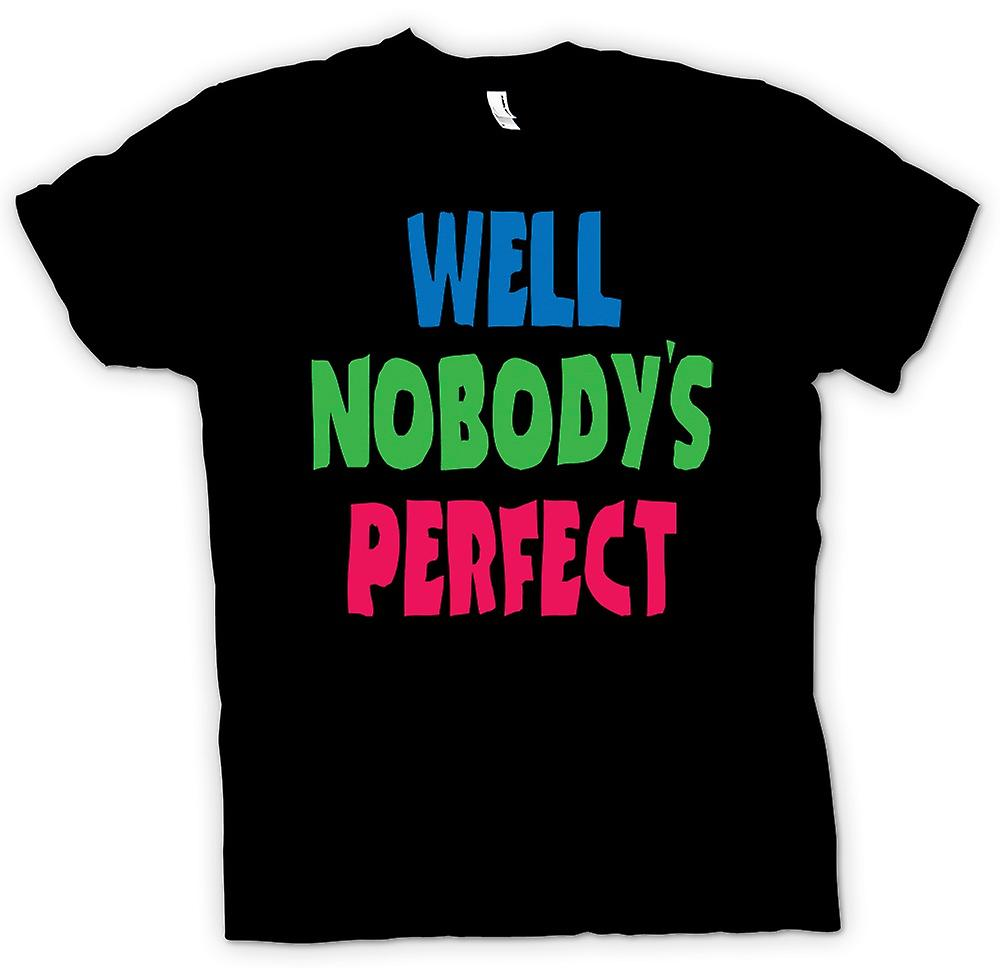Kids T-shirt - Well Nobodys Perect - Some Like It Hot