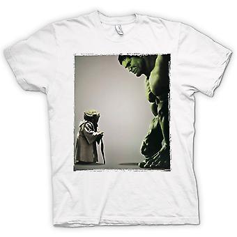 Mens t-skjorte - Yoda V Incredible Hulk - Super helten
