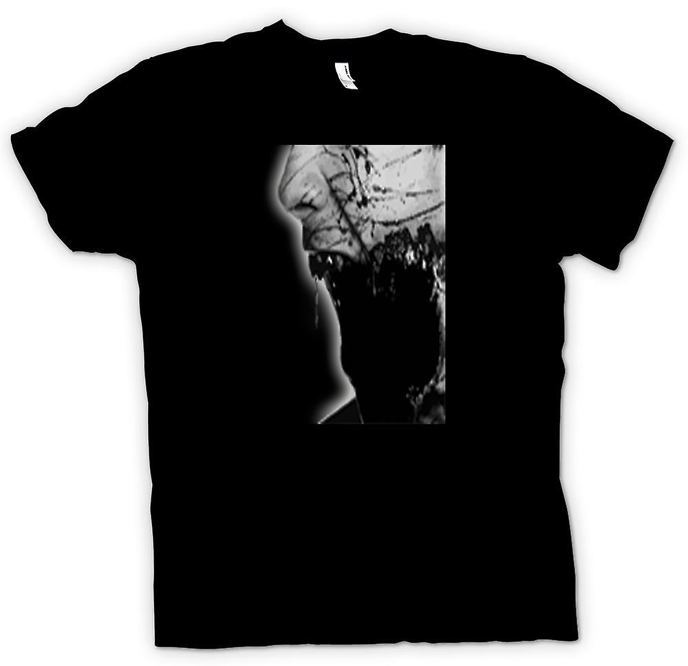 Mens T-shirt - The Walking Dead Zombie Face Portrait