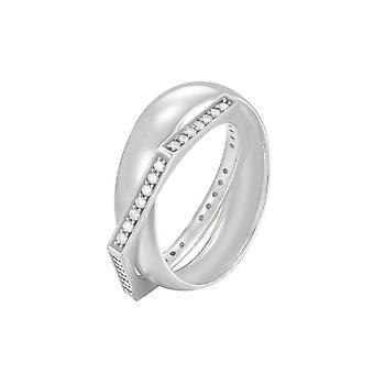 Joop kvinnors ring silver zirconia kanter JPRG90779A