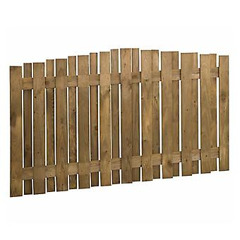 Forest Garden 3ft Pressure Treated Hit & Miss Wooden Fence Panel