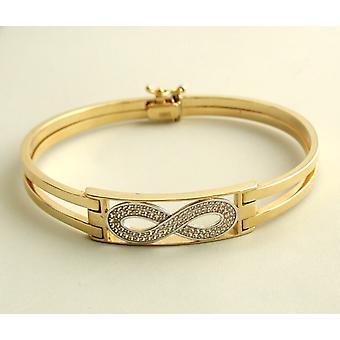 Gold cubic zirconia Infinity bracelet