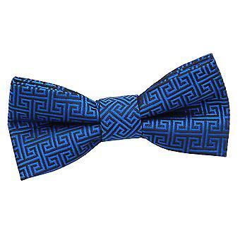 Royal Blue Greek Key Pre-Tied Bow Tie for Boys