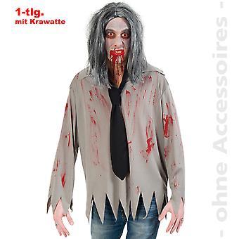 Traje de Zombie traje hombres horror sangriento de camisa para hombre de Halloween