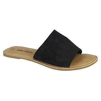 Leather Collection Womens/Ladies Flat Mule Sandals