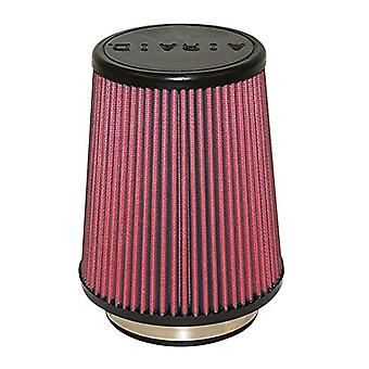 Airaid 700-458 Universal Clamp-On Air Filter: Round Tapered; 4 in (102 mm) Flange ID; 7 in (178 mm) Height; 7 in (178 mm