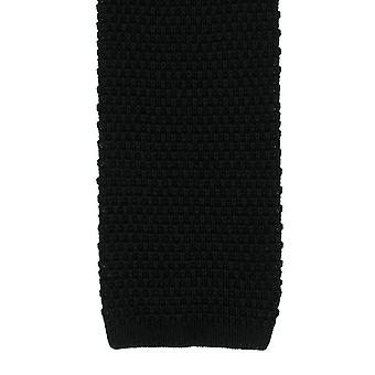 Michelsons of London Silk Knitted Tie - Black