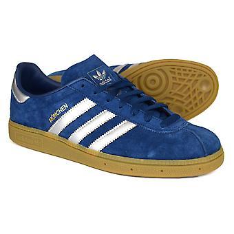 Adidas Originals München Marine & Silber Wildleder Trainer BY9791