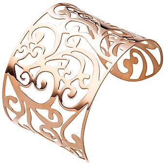 Браслет манжеты / Открытый браслет из нержавеющей стали розового золота цвет покрытием широкий